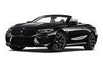 Stock pictures of low aggressive front three quarter view of 2021 BMW M8 M8-Competition 2 Door Coupe Low Aggressive