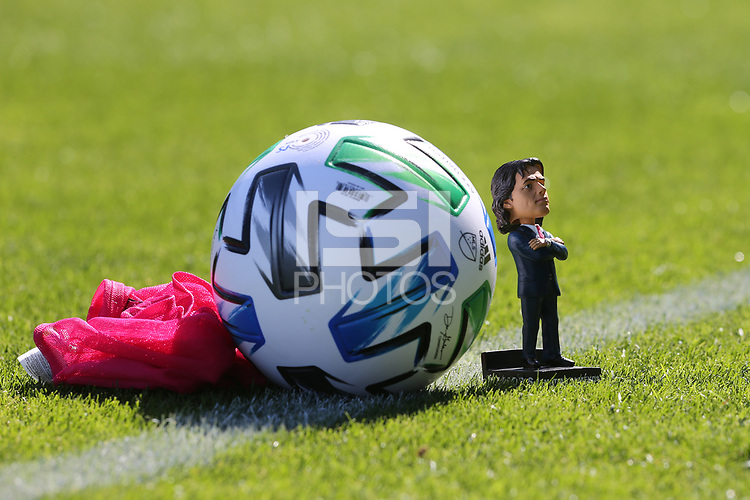 SAN JOSE, CA - FEBRUARY 29: Matias Almeyda bobblehead during a game between Toronto FC and San Jose Earthquakes at Earthquakes Stadium on February 29, 2020 in San Jose, California.