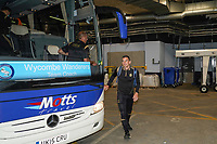 Matt Bloomfield of Wycombe Wanderers arrives ahead of the Carabao Cup match between Manchester City and Wycombe Wanderers at the Etihad Stadium, Manchester, England on 21 September 2021. Photo by David Horn.
