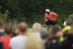 Tongchai Jaidee lines up his putt on the 8th green during the final round of the ISPS Handa Wales Open 2012..03.06.12.©Steve Pope