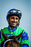 SARATOGA SPRINGS, NY - AUGUST 26: Rajiv Maragh after the Allen Jerkens Stakes at Saratoga Race Course on August 26, 2017 in Saratoga Springs, New York.(Photo by Alex Evers/Eclipse Sportswire/Getty Images)