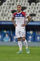 2nd July 2021; Nilton Santos Stadium, Rio de Janeiro, Brazil; Copa America, Brazil versus Chile; Eduardo Vargas of Chile