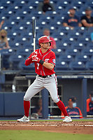 Washington Nationals Trea Turner (7) bats during a Major League Spring Training game against the Houston Astros on March 19, 2021 at The Ballpark of the Palm Beaches in Palm Beach, Florida.  (Mike Janes/Four Seam Images)