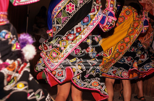Quillabamba, Peru. Traditional dancing at the annual fair; COCLA coffee organisation.