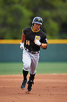 Pittsburgh Pirates Connor Joe (14) during a minor league Spring Training game against the Toronto Blue Jays on March 24, 2016 at Pirate City in Bradenton, Florida.  (Mike Janes/Four Seam Images)
