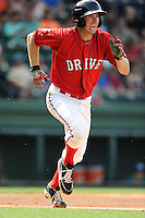 First baseman Jantzen Witte (35) of the Greenville Drive in a game against the Lexington Legends on Sunday, April 27, 2014, at Fluor Field at the West End in Greenville, South Carolina. Greenville won, 21-6. (Tom Priddy/Four Seam Images)