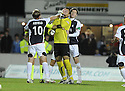 14/09/2009  Copyright  Pic : James Stewart.sct_jspa02_falkirk_v_aberdeen  .FALKIRK PLAYERS SCOTT ARFIELD AND ROBERT OLEJNIK CLASH AFTER AN ARGUMENT.James Stewart Photography 19 Carronlea Drive, Falkirk. FK2 8DN      Vat Reg No. 607 6932 25.Telephone      : +44 (0)1324 570291 .Mobile              : +44 (0)7721 416997.E-mail  :  jim@jspa.co.uk.If you require further information then contact Jim Stewart on any of the numbers above.........