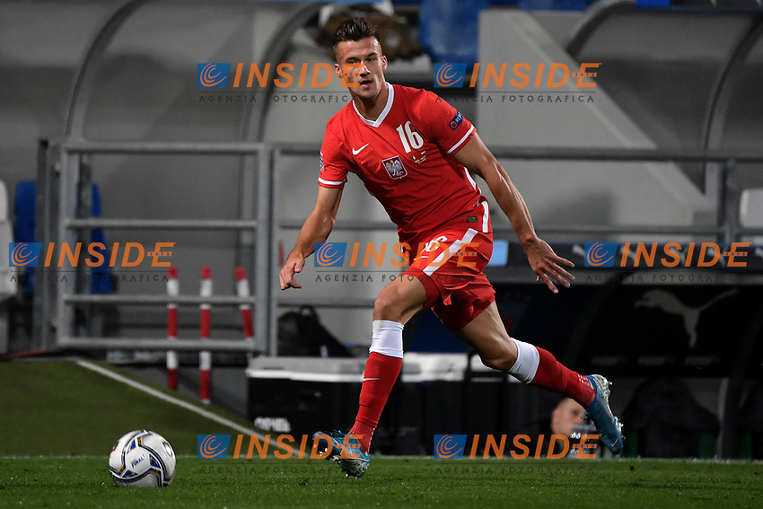 Arkadiusz Reca of Poland in action during the Uefa Nation League Group Stage A1 football match between Italy and Poland at Citta del Tricolore Stadium in Reggio Emilia (Italy), November, 15, 2020. Photo Andrea Staccioli / Insidefoto
