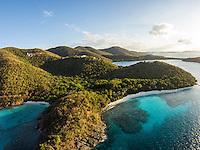Aerial view of Denis Bay<br /> Virgin Islands National Park<br /> St. John<br /> U.S. Virgin Islands