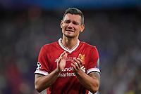 26.05.2018,  Football UEFA Champions League Finale 2018, Real Madrid - FC Liverpool, Olympiastadium Kiew (Ukraine).  Dejan Lovren (FC Liverpool) dejected  *** Local Caption *** © pixathlon<br /> <br /> Contact: +49-40-22 63 02 60 , info@pixathlon.de