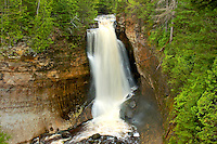Miners Falls is located within the Pictured Rocks National Lakeshore and near Munising, MI.
