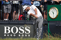 15th July 2021; Royal St Georges Golf Club, Sandwich, Kent, England; The Open Championship, PGA Tour, European Tour Golf, First Round ; Jon Rahm (ESP) plays a long iron from the tee of the 3rd hole