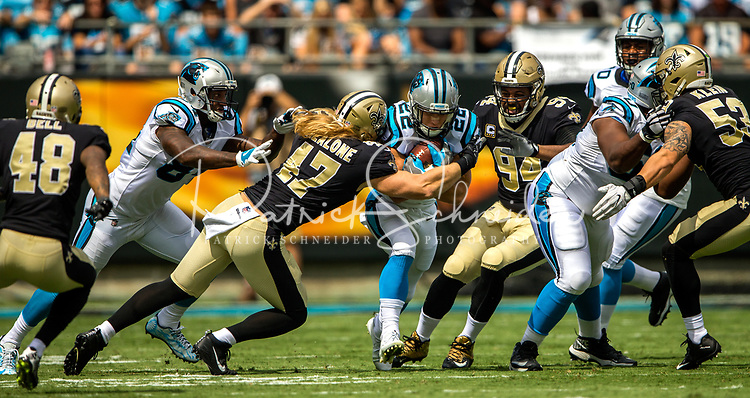 Photography of  the Carolina Panthers v. The New Orleans Saints, at Bank of America Stadium on Charlotte, NC.<br /> <br /> Charlotte Photographer - PatrickSchneiderPhoto.com