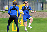 St Johnstone Training....   Liam Craig pictured with Murray Davidson during training at McDiarmid Park ahead of Saturday's game against Rangers.<br />Picture by Graeme Hart.<br />Copyright Perthshire Picture Agency<br />Tel: 01738 623350  Mobile: 07990 594431