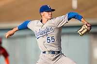 Starting pitcher Keaton Hayenga #55 of the Burlington Royals in action versus the Johnson City Cardinals at Howard Johnson Stadium June 27, 2009 in Johnson City, Tennessee. (Photo by Brian Westerholt / Four Seam Images)