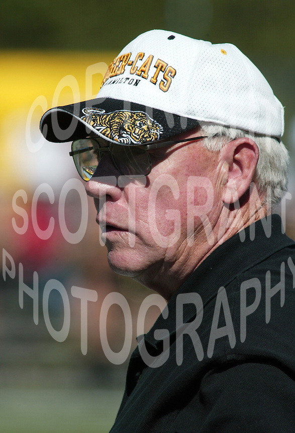 Ron Lancaster HamiltonTiger Cats head coach. Copyright photograph Scott Grant