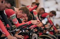 Rohan Dennis (AUS/BMC) warming up<br /> <br /> UCI MEN'S TEAM TIME TRIAL<br /> Ötztal to Innsbruck: 62.8 km<br /> <br /> UCI 2018 Road World Championships<br /> Innsbruck - Tirol / Austria