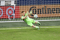 KANSAS CITY, KS - NOVEMBER 22: Tim Melia #29 Sporting Kansas City makes a save in the penalty shoot out during a game between San Jose Earthquakes and Sporting Kansas City at Children's Mercy Park on November 22, 2020 in Kansas City, Kansas.
