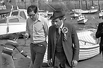"""""""Thorpe works for us."""" Jeremy Thorpe on the election campaign trail mid Devon constituency 1979  Seen here with author and journalist Max Hastings. <br /> <br /> Sir Max Hugh Macdonald Hastings."""