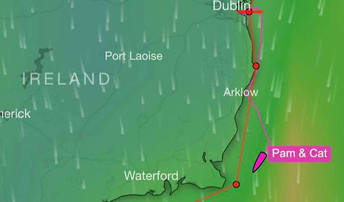 Magenta Sailing Round Ireland Tracker