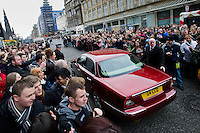 Britains Got Talent judges leaving the Balmoral Hotel and head for the Festival Theatre, Edinburgh, Scotalnd, 11th February, 2012 Princes Street is blocked with crowds as the Britains Got Talent judges leave the hotel..Picture:Scott Taylor Universal News And Sport (Europe) .All pictures must be credited to www.universalnewsandsport.com. (Office)0844 884 51 22.