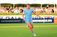 Brittany Taylor (14) of Sky Blue FC. Sky Blue FC defeated the Boston Breakers 2-1 during a Women's Professional Soccer (WPS) match at Yurcak Field in Piscataway, NJ, on May 28, 2011.