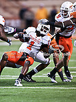 Oklahoma State Cowboys running back Joseph Randle (1) in action in the game between the Oklahoma State Cowboys and the University of Texas in Austin Texas Longhorns at the Daryl K. Royal- Texas Memorial Stadium in Austin, Texas. The Oklahoma State Cowboys defeated the Texas Longhorns 33 to 16.