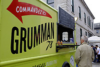 Fetes Gourmandes 2011, au Musee Pointe-a-Calliere.<br /> <br /> Montreal (Qc) CANADA -May 29, 2011 - Fetes Gourmandes  at Pointe-a-Calliere archeology Museum in Old-Montreal -  Grumman 78 taco truck