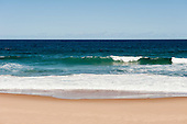 Arembepe, Bahia State, Brazil. Sky, sea, wave, sand.