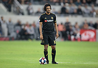 LOS ANGELES, CA - OCTOBER 29: Carlos Vela #10 of the Los Angeles FC stands over the ball waiting for a restart during a game between Seattle Sounders FC and Los Angeles FC at Banc of California Stadium on October 29, 2019 in Los Angeles, California.