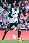 Ezequiel Garay of Valencia CF in action during the La Liga 2017-18 match between Valencia CF and Villarreal CF at Estadio de Mestalla on 23 December 2017 in Valencia, Spain. Photo by Maria Jose Segovia Carmona / Power Sport Images