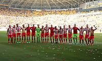Union team celebrates 1:0 Sieg vor den Fans    celebration    <br /> / Sport / Football /   2.Bundesliga  DFL /  2017/2018 / 13.05.2018 / SG Dynamo Dresden SGD vs. 1.FC Union Berlin FCU 180513022 /      <br />     *** Local Caption *** © pixathlon<br /> Contact: +49-40-22 63 02 60 , info@pixathlon.de