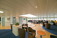Interior of the Fairweather Fast Ferry, brought on line with Alaska Marine Ferry Fleet in June of 2004. Offers ferry service to Southeast Alaska communities.