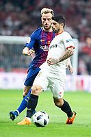 Sevilla FC Ever Banega and FC Barcelona Ivan Rakitic during King's Cup Finals match between Sevilla FC and FC Barcelona at Wanda Metropolitano in Madrid, Spain. April 21, 2018. (ALTERPHOTOS/Borja B.Hojas)