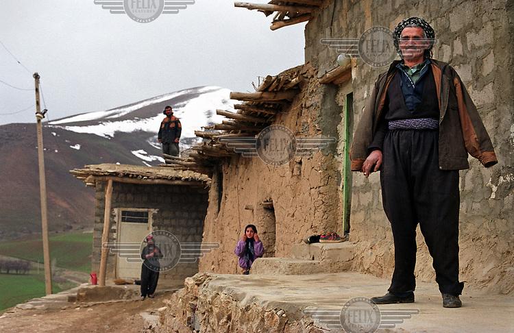 Residents of Kavtar, a traditional Kurdish village.
