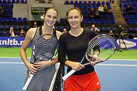 21-12-13,Netherlands, Rotterdam,  Topsportcentrum, Tennis Masters, Semi final: Bibiane Schoofs(NED) and Olga Kalyuzhnaya (NED)<br /> Photo: Henk Koster