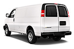 Car pictures of rear three quarter view of 2020 Chevrolet Express-Cargo WT 4 Door Cargo Van Angular Rear