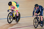 Vasilijus Lendel of the Lithuania team competes against Edward Dawkins of the New Zealand team in the Men's Sprint 1/16 Finals as part of the 2017 UCI Track Cycling World Championships on 14 April 2017, in Hong Kong Velodrome, Hong Kong, China. Photo by Marcio Rodrigo Machado / Power Sport Images