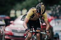 George Bennett (NZL/LottoNL-Jumbo) up the Mur de Péguère (Cat1/1375m/9.3km/7.9%)<br /> <br /> 104th Tour de France 2017<br /> Stage 13 - Saint-Girons › Foix (100km)