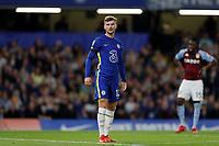 22nd September 2021; Stamford Bridge, Chelsea, London, England; EFL Cup football, Chelsea versus Aston Villa; Timo Werner of Chelsea