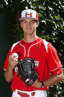 Pitcher A.J. Bogucki #31 of Boyertown High School in Gilbertsville, Pennsylvania poses for a photo before participating in the Under Armour All-American Game powered by Baseball Factory at Wrigley Field on August 18, 2012 in Chicago, Illinois.  (Mike Janes/Four Seam Images)