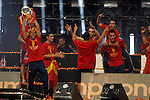 02.07.2012. Players during Tour of Madrid of the Spanish football team to celebrate their victory in Euro 2012 july 2012.(ALTERPHOTOS/ARNEDO)
