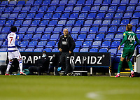 4th November 2020; Madejski Stadium, Reading, Berkshire, England; English Football League Championship Football, Reading versus Preston North End; Preston North End Manager Alex Neil watches action from the touchline