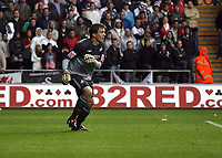 ATTENTION SPORTS PICTURE DESK<br /> Pictured: Dorus de Vries of Swansea City in action <br /> Re: Coca Cola Championship, Swansea City Football Club v Cardiff City FC at the Liberty Stadium, Swansea, south Wales. Saturday 07 November 2009