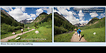annotated photo, compare and contrast, diagonal lines, fall season, framed photo, lines, man hiking, Maroon Bells, Maroon Bells-Snowmass Wilderness Area, Maroon Peak, men hiking, snow capped mountains, stage technique, straight lines, teaching photography, unobtrusive photographer