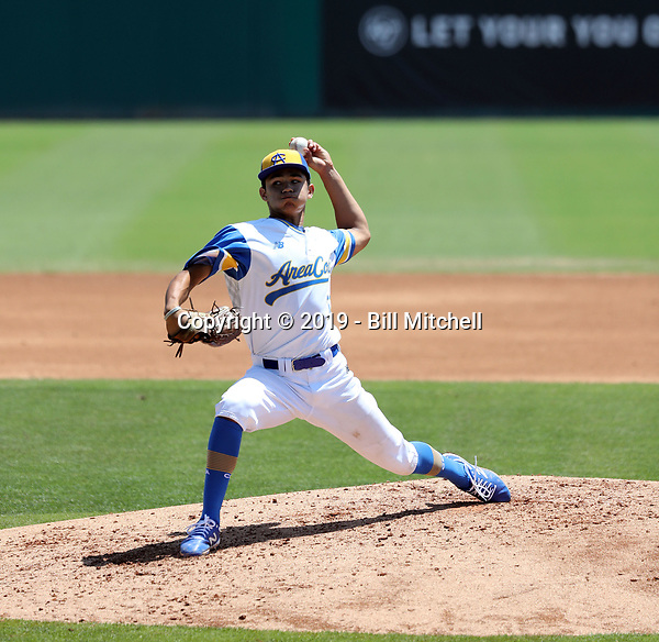 Kyle Carr plays in the 2019 Area Code Games on August 5-9, 2019 at Blair Field in Long Beach, California (Bill Mitchell)