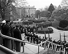 GPHR 45/2796:  ROTC Memorial Service on the steps of Main Building, 1956/0506.  Image from the University of Notre Dame Archives