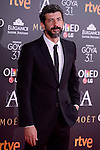 Alberto Rodriguez attends to the Red Carpet of the Goya Awards 2017 at Madrid Marriott Auditorium Hotel in Madrid, Spain. February 04, 2017. (ALTERPHOTOS/BorjaB.Hojas)