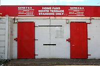 The North Terrace turnstiles ahead of Stevenage vs Crewe Alexandra, EFL League 2 Football at the Lamex Stadium on 6th August 2016