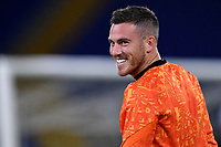 Jordan Veretout of AS Roma smiles during the warm up prior to the Europa League Group Stage A football match between AS Roma and CSKA Sofia at stadio olimpico in Roma (Italy), October, 29th, 2020. Photo Andrea Staccioli / Insidefoto